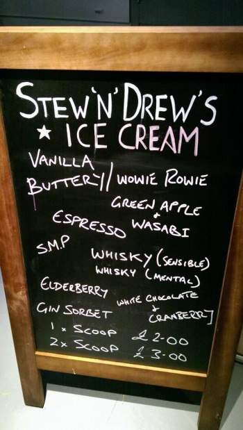 Ice cream blackboard